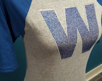 Fly the W Raglan Shirt with RHINESTONE W!