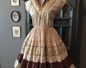Reserved Cara 50s Fall Perfect Peggy Lee Patio Dress