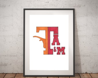 House Divided // Texas A&M // University of Texas