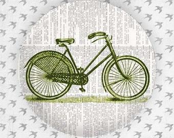 Green bike II melamine plate