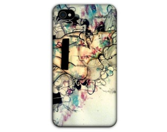 iPhone case - iphone 4 cover - iPhone 4 case - Phone case - Phone cover - Art Phone case - Electionic phone case - Cell Phone case