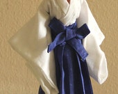 BARBIE doll Japanese HAKAMA pattern, Martial Art, Kendo hakama, easy to make step by step instruction