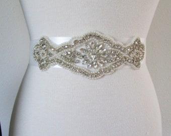 SALE Wedding Belt, Bridal Belt, Sash Belt, Crystal Rhinestone SB1088B