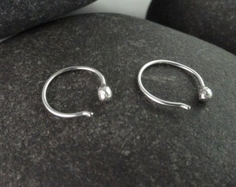 Sterling Silver Small Hoop