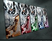 """Modern Original Metal Art Abstract Special Painting Sculpture Indoor Outdoor Decor """"Tiger"""" by Ning"""