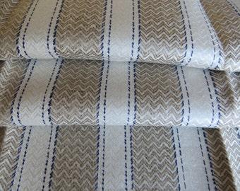Antique   Art Deco  Linen Towel  Diamonds  Blue Stripes   Dish Cloth/ Napkin   Wrap  Bath Cloth  Torchon Germany 1920 Unused Mono EM