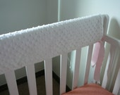 Solid Color Minky Teething Crib Rail Cover