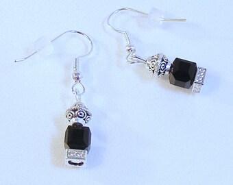 BLACK CZ LANTERN Earrings