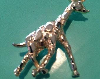Vintage Golden Giraffe Pin