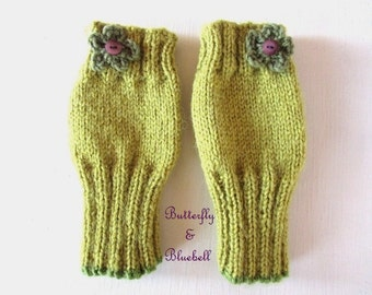 Handmade fingerless gloves/ wristwarmers