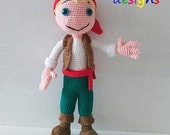Amigurumi Cute Pirate (Crochet, Amigurumi)