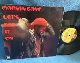 "RARE, Vintage, Marvin Gaye - ""Let's Get It On"", Vinyl LP, Record Album, Original 1973 Press, Come Get To This, Classic Funk, Soul, R&B"