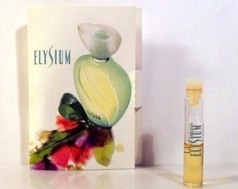 Vintage 1990s Elysium by Clarins 0.06 oz Eau de Toilette Sample Vial on Card PERFUME