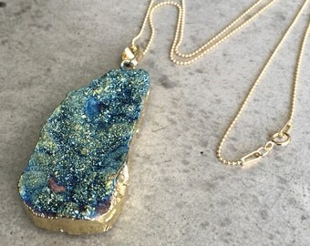 Druzy Necklace, druzy, Aunt gift, sister gift, wedding gift