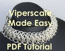 Viperscale Chain Maille Jewelry Tutorial PDF Download