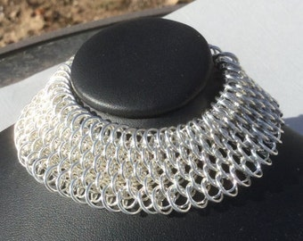 Sterling Silver Fine Jewelry Chain Cuff Bracelet