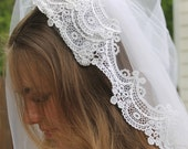 Vintage Wedding Veil with Blusher to match William Cahill Gown