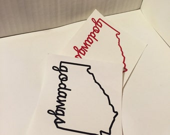 Georgia State Outline Georgia Bulldogs Decal