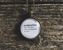 Writer Necklace - Writer Jewelry - Writer Gift - Scripturient