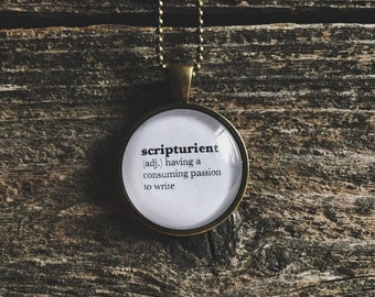 Writer Necklace - Writer Jewelry - Writer Gift - Scripturient