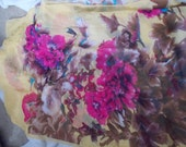 Stunning Soft & Silkie Scarf-Yellow Floral-SC265