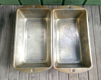 Antique Bread Loaf Pans Baking Tins Food Photography Props