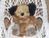 Sweet So Soft Patchwork Real Fur Koala Bear made out of Real Fur