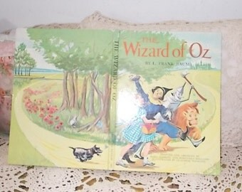 1962 The Wizard of Oz By L Frank Baum Hard Cover 1962, Vintage Childrens book, Vintage Book, Vintage Wizard of Oz book,  :)S