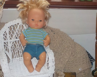 1972 Mattel Baby Tender Loves Baby Brother Boy Doll :)S