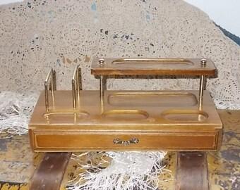 Gentlemen Valet Dresser Jewelry Box Storage Mid Century/Change/Tie Tack/pens/Dresser Storage Unite/Not Included in Coupon Sale New Listing