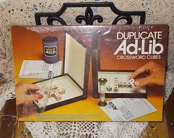 1976 Milton Bradley Duplicate Ad-Lib Crossword Cubes Game Complete and Sealed /Never Opened Up /Not Included In Coupon Discount / S