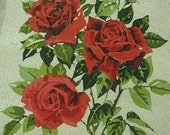 Vintage Needlepoint Canvas, Unused, Gorgeous Roses, Made in England, Coats and Clark, Large Size