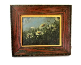 Antique Impressionist Oil Painting, Plein Air, Circa 1900, signed, Small Wood Gilt Frame