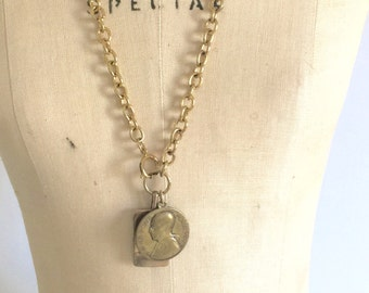 Vintage charms and necklace