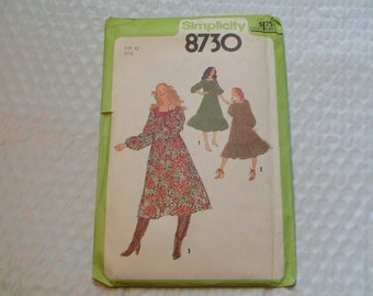 Vintage Simplicity Pattern 8730 Miss Pullover Dress