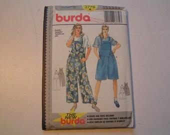 Burda Pattern 3779 Miss Overalls