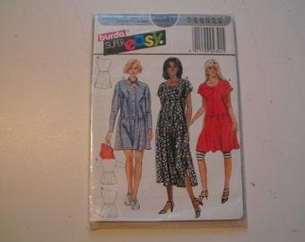 Burda Pattern super easy 4341 Miss Dresses