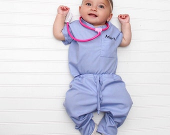 Infant Toddler Personalized scrub set (stethoscope not included)