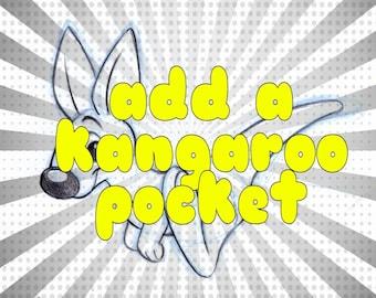 Add on kangaroo pocket