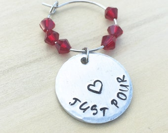 Wine Party Charms Bridal Shower Wine glass Charm Wine Charms Personalized Wine bridal Wine Tags wine glass charms Bridal shower