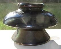 Insulator Large Green Mottled Ceramic Porcelain Glazed Mushroom