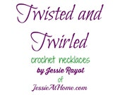 Twisted and Twirled Crochet Necklace eBook - PATTERN eBook PDF ONLY