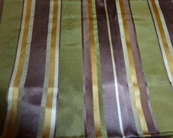 Highland Court Designer Fabric From China Striped Silk Bundle In Thistle Fabric Samples For