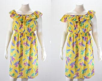 XXL Dress - On Off Shoulders Vintage Dress