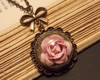 Fairy Tale Rose Necklace