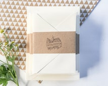 Invitation and RSVP card blanks - flat note cards and envelopes available in sets of 25 - 80 lb cover - paper source - invitation paper
