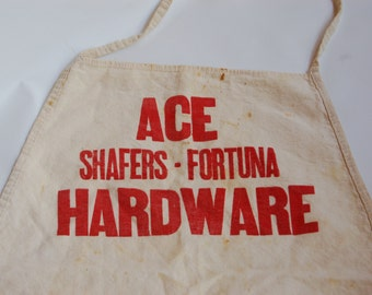 Vintage Ace Hardware Canvas Apron. Advertising Apron  Vintage Hardware Apron. Vintage builders apron. Shop keepers apron