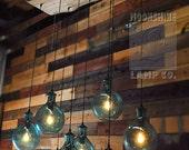 Big Sur - Custom wood and glass chandelier