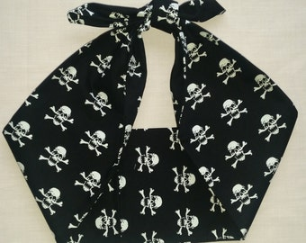 skull bandana, rockabilly pin up psychobilly tattoo hairband headband