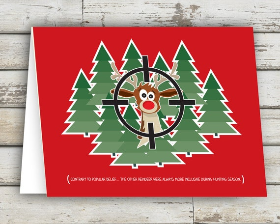 Rudolph rudolph the red nosed reindeer christmas cards for Funny reindeer christmas cards